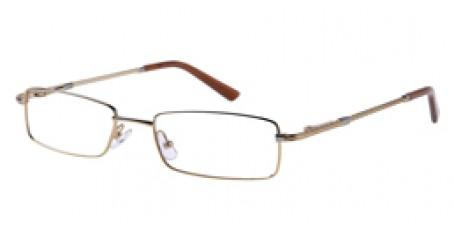 Die trendige goldene Vollrandbrille aus Metall für trendbewusste Männer und Frauen eignet sich bestens für Freizeit und Beruf.
