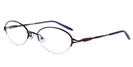 Lila Halbrandbrille aus Metall mit Federscharnier
