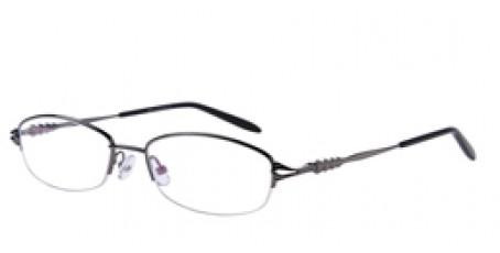 Halbrandbrille aus Metall in Grau