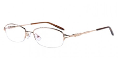 Halbrandbrille aus Metall in Gold
