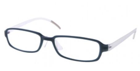 Farblich schön abgestimmte Unisex Nerdbrille in Blau-schwarz. Auswechselbare Bügel!