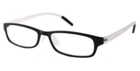 Nerd-Vollrandbrille in Weiß-schwarz