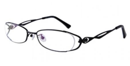 Halbrandbrille aus Metall in Schwarz