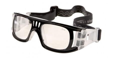 Schwarze Sportbrille mit Polykarbonat