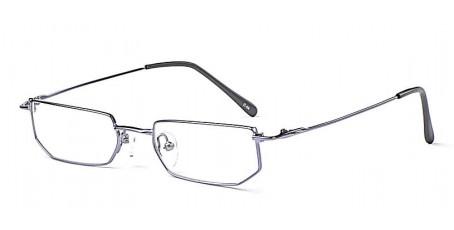 Lila Vollrandbrille mit eckigen Gläsern