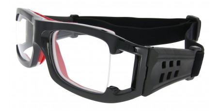 Sportbrille L009 C12 in Schwarz Rot