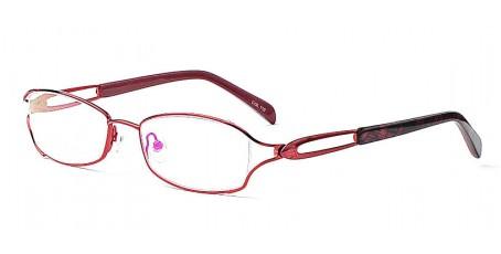 Brille in einer tollen rot & schwarz Farbkombination