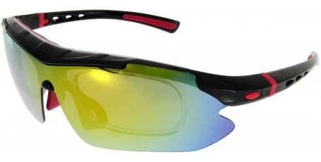 Sportbrille SP0890 in Schwarz Rot