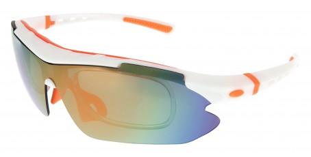 Sportbrille SP0890 in Weiß Orange