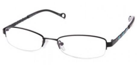 Schwarze Halbrandbrille mit Sternen