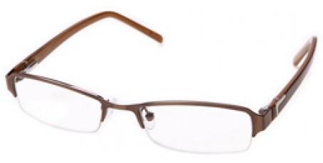 Braune Halbrandbrille - zwei verschiedene Farbtöne