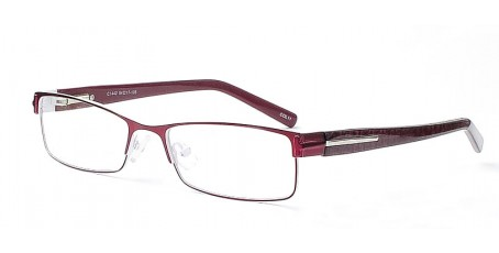 Edle Damenbrille in Dunkelrot