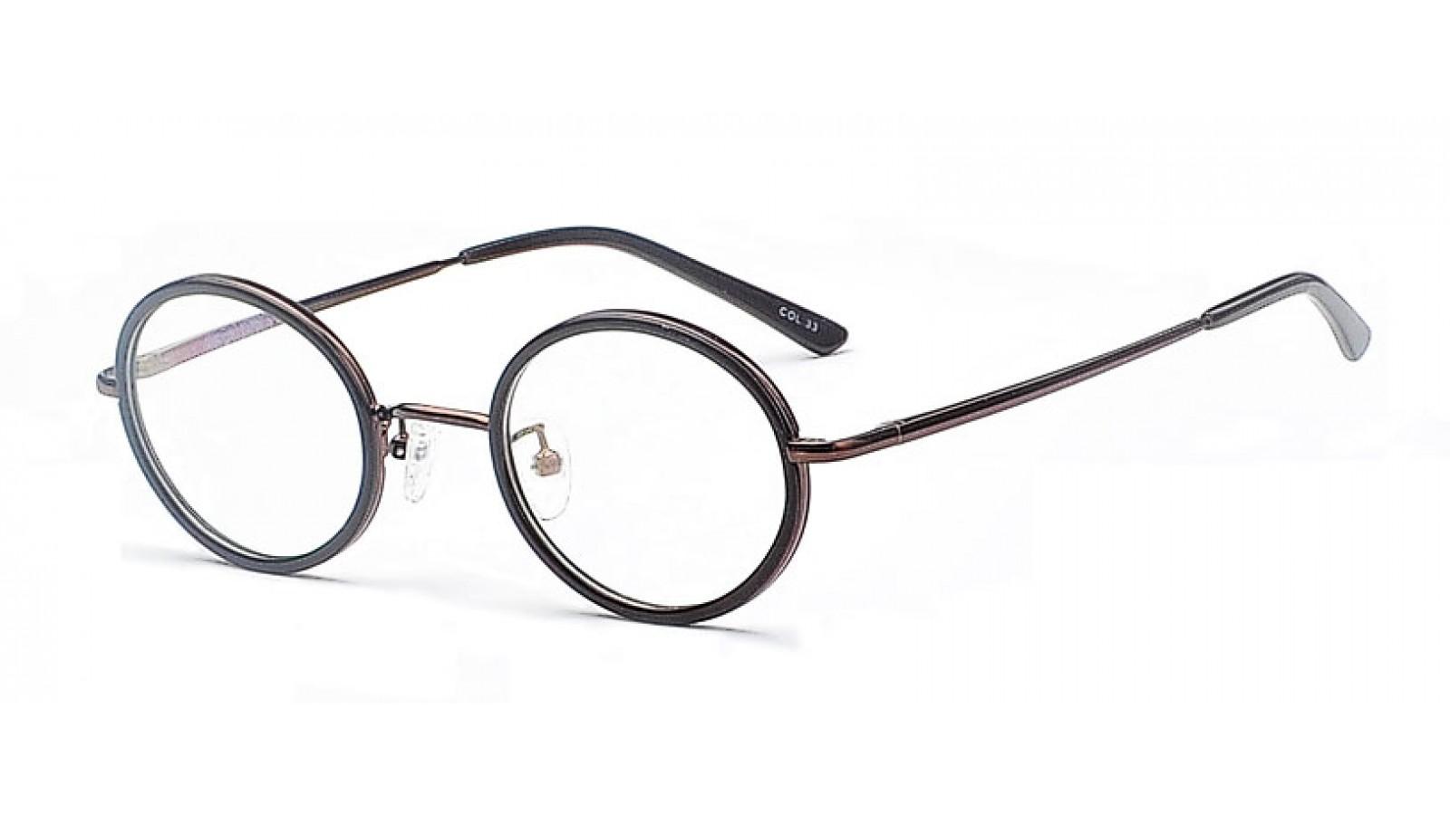 Schwarze Gleitsicht Pantobrille Brille Mit Breiten Runden Glasern