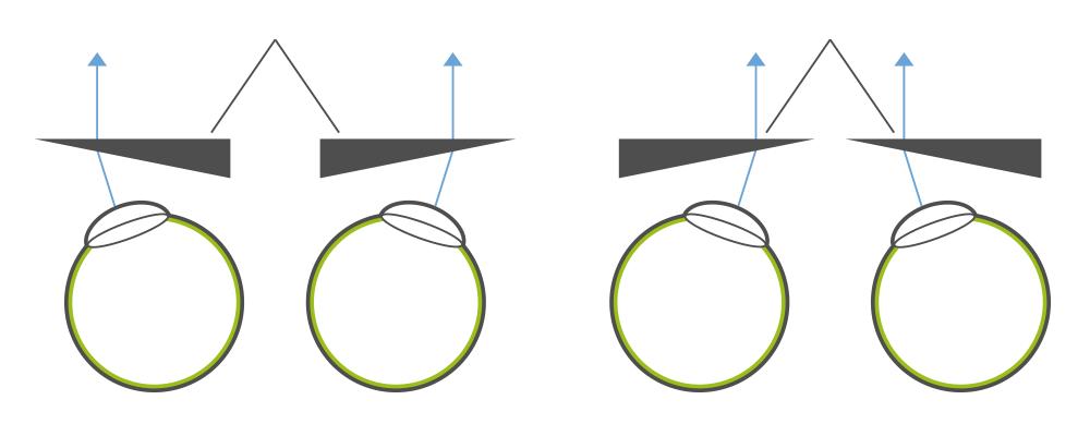 Grafik prismatische Brillengläser