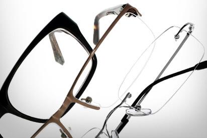 Fassungen und Gläser einer Arbeitsplatzbrille