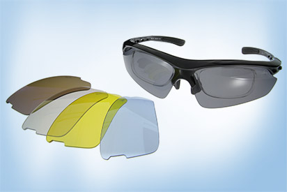 Sportbrille mit Wechselgläsern
