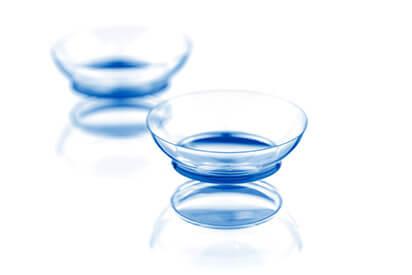 zwei Kontaktlinsen