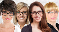 Die richtige Brille zu den Haaren