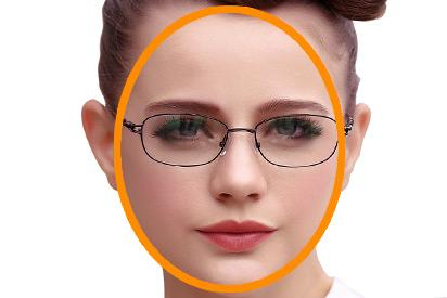Rundes Gesicht mit Brille